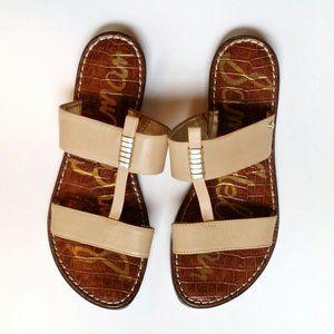 Sam Edelman Kane Nude Leather Strap Sandals - 6.5